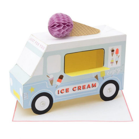 Ice Cream Van Stand-Up Card-Blank