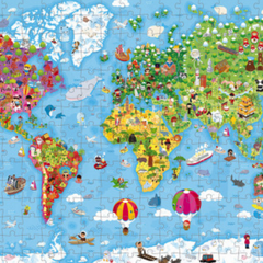 Hat Boxed Giant Puzzle World Map (300 pcs) 6-9yrs