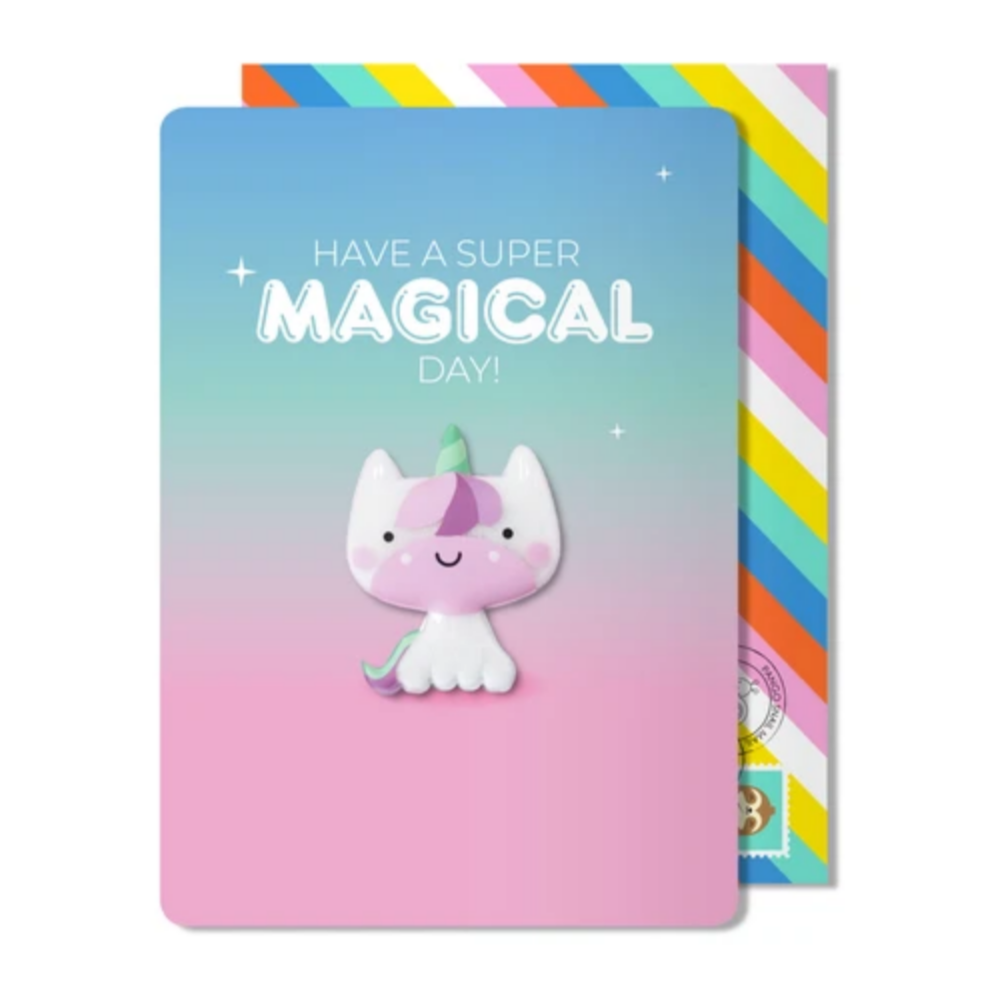 Magical Unicorn Magnet Card -Birthday