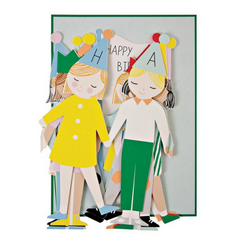 Concertina Children Birthday Card -Birthday
