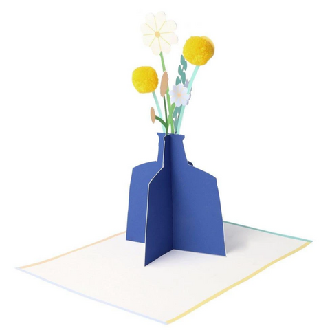 Flower Vase Stand-Up Card-Get Well Soon