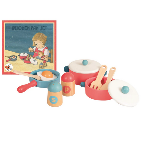 Wooden Pan Set 1.5yrs+