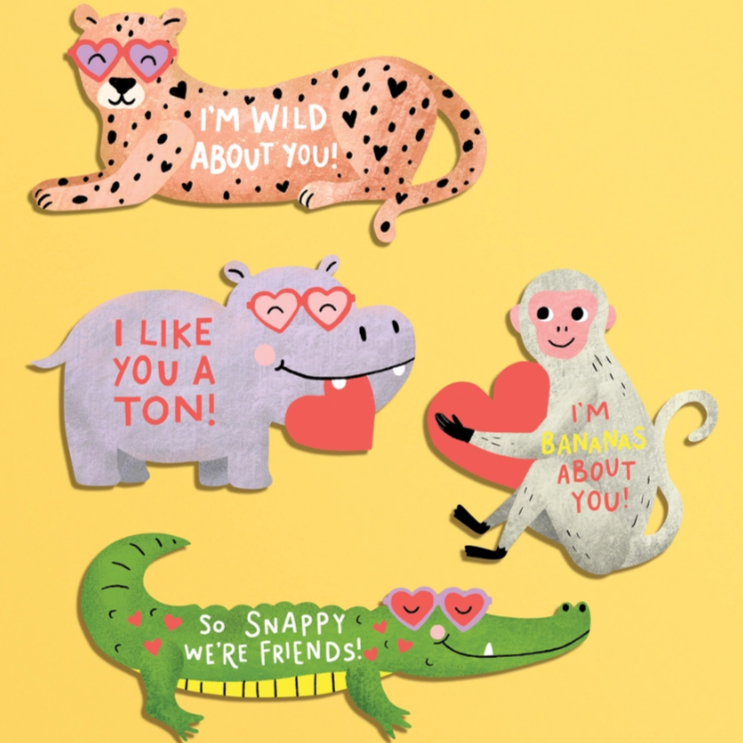 Loveable Animal DIY Valentine's Card Kit