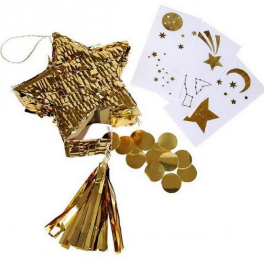 Gold Star Pinata Party Favors