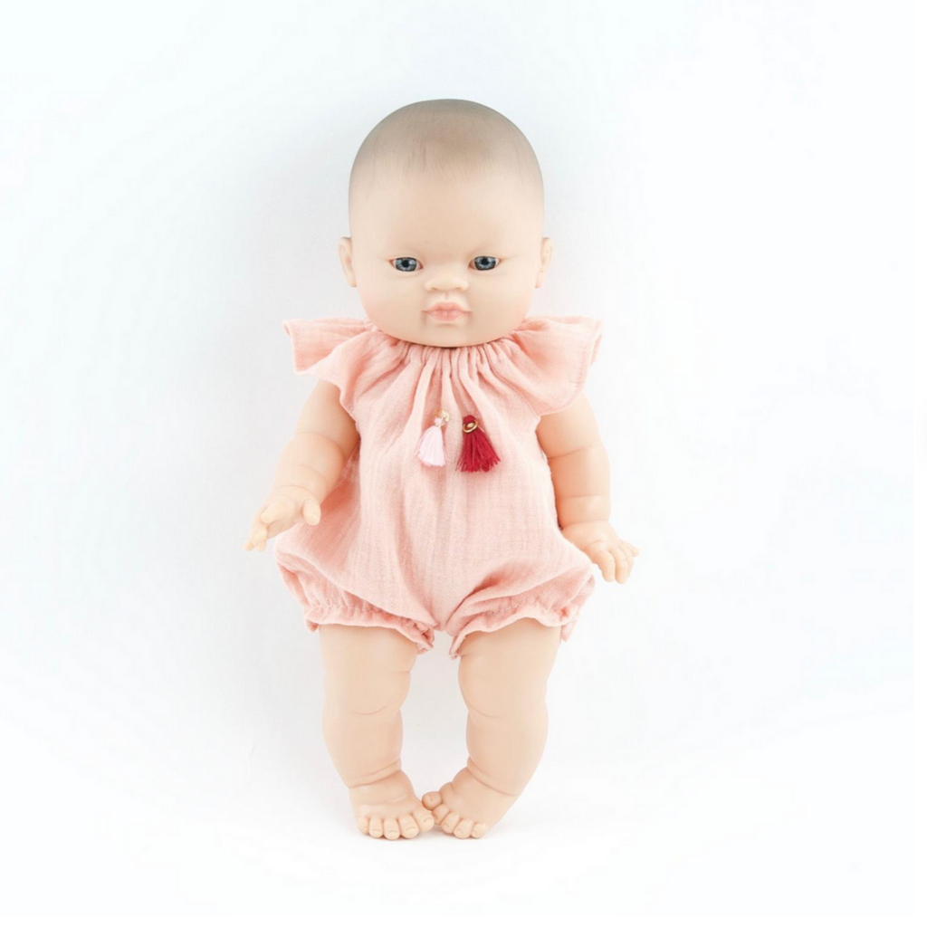 "BoHo Romper in Double Gauze: fits 12"" Miniland Dolls"