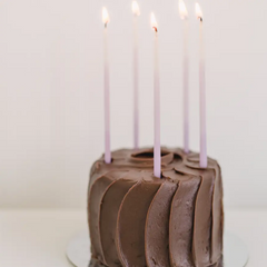 Tall Violet Ombre Beeswax Birthday Candles