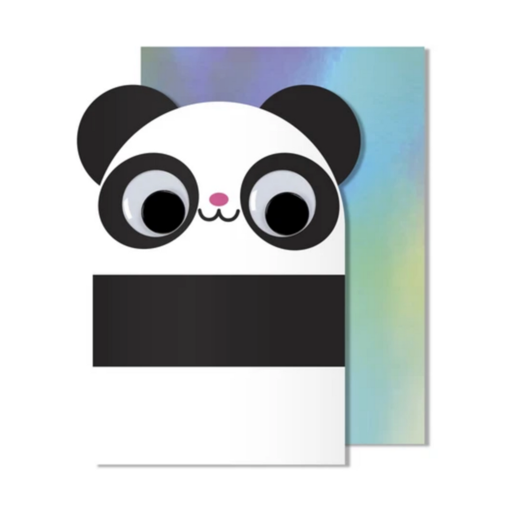 Googly Eye Panda Card -Blank