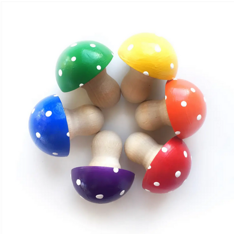 Set of Rainbow Mushrooms