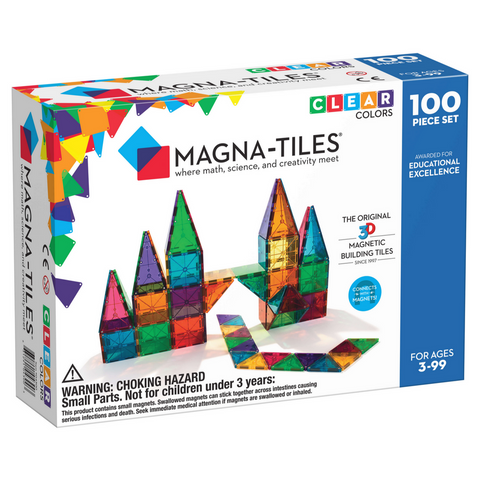 Magna-Tiles Clear Colors 100-Piece Set -3yrs+