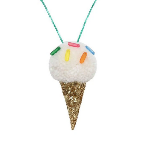 Ice Cream Pompom Necklace