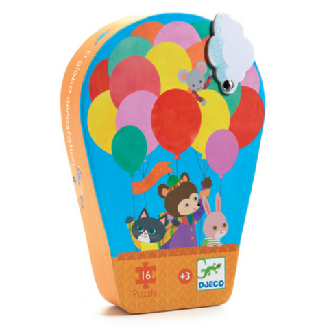 Djeco: The Hot Air Balloon Puzzle-16pcs