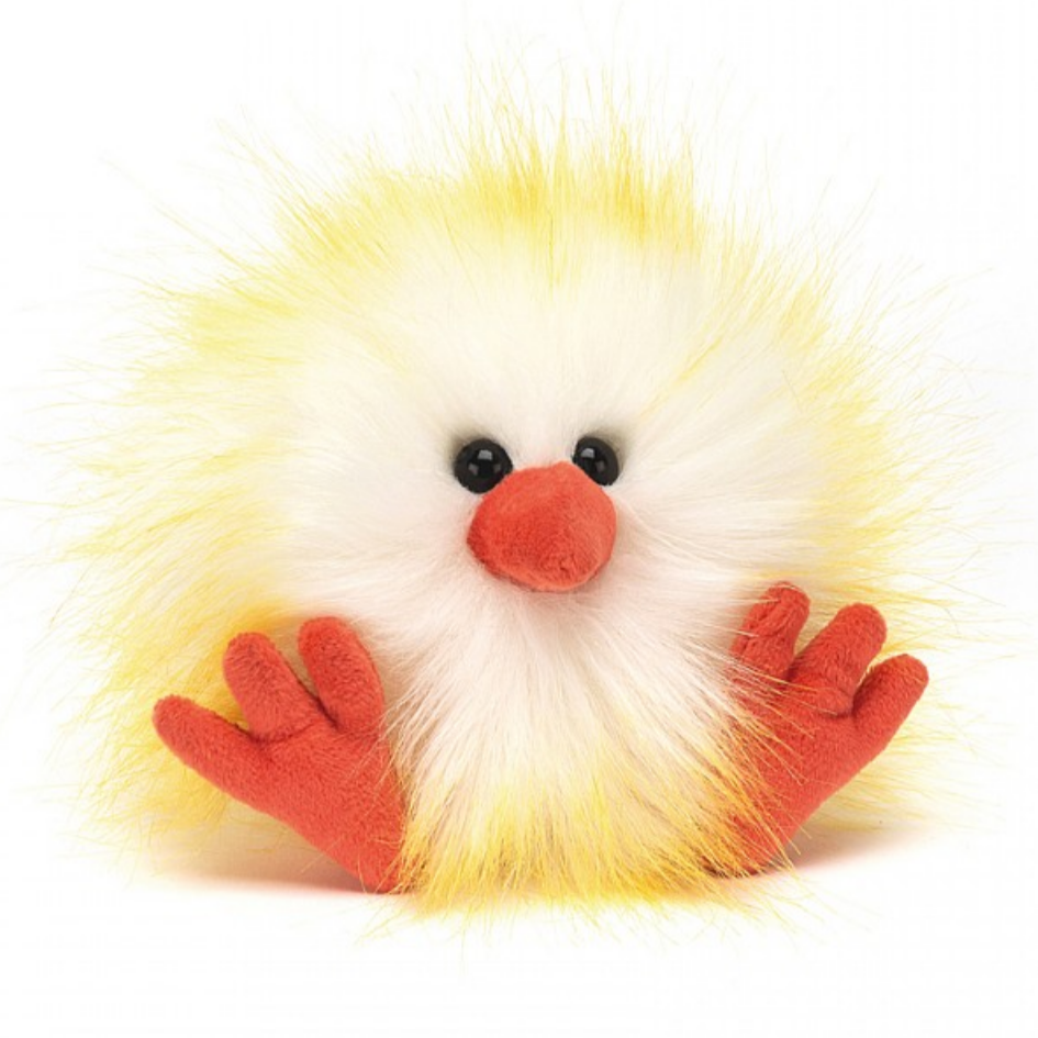 Jellycat Yellow and White Crazy Chick