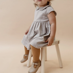 Classic Peter Pan Linen Dress