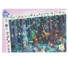 Djeco: Observation Enchanted Forest Puzzle-100pcs