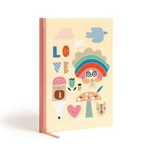 Notebook Rainbow Girl with Stickers- Soft Cover