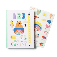 Notebook Teatime with Stickers-Hardcover