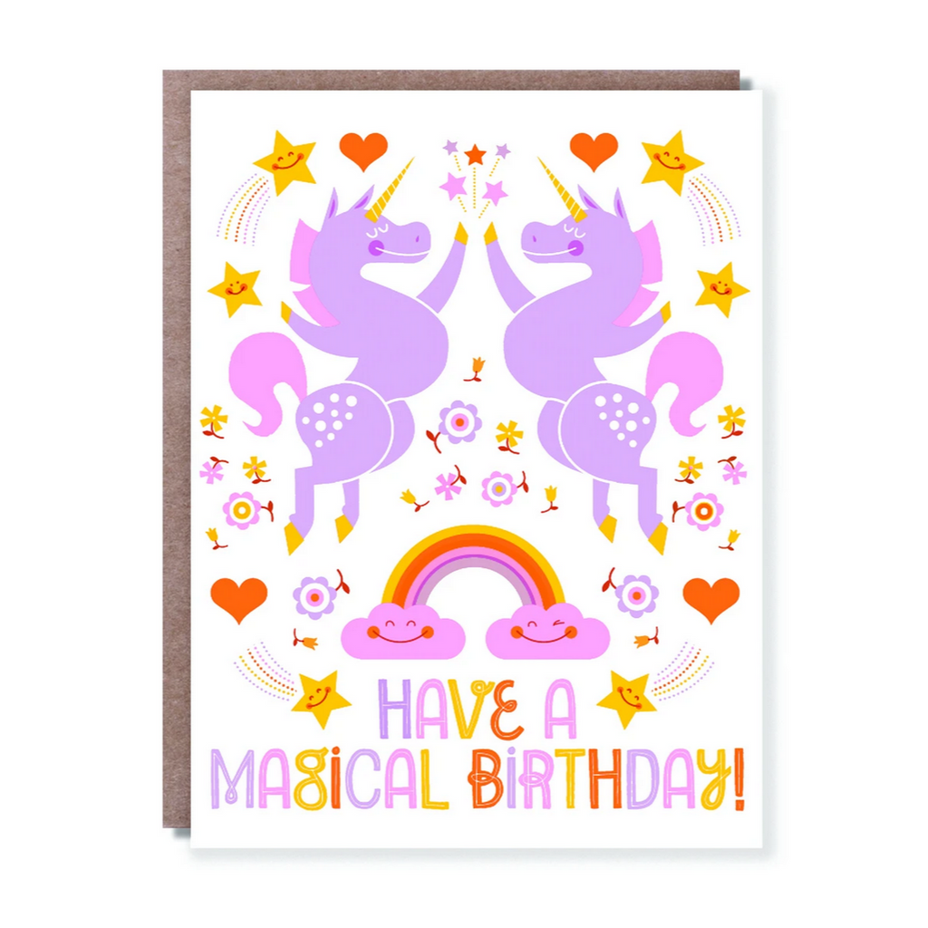 UNICORN HI-FIVE -Birthday Card
