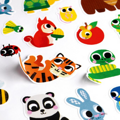Djeco Big Sticker Sheets-Baby Animals