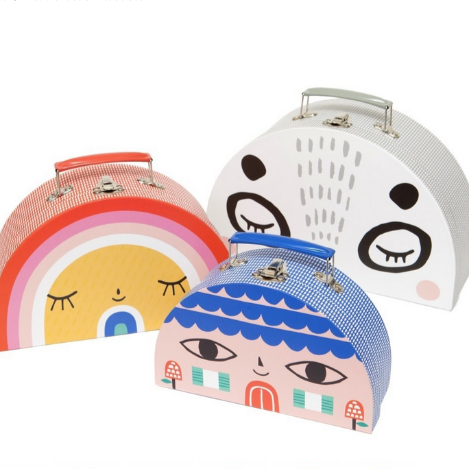 Double Face and Rainbow Suitcase Set -Suzy Ultman