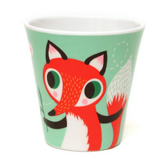 Mint Fox & Rabbit Melamine Cup