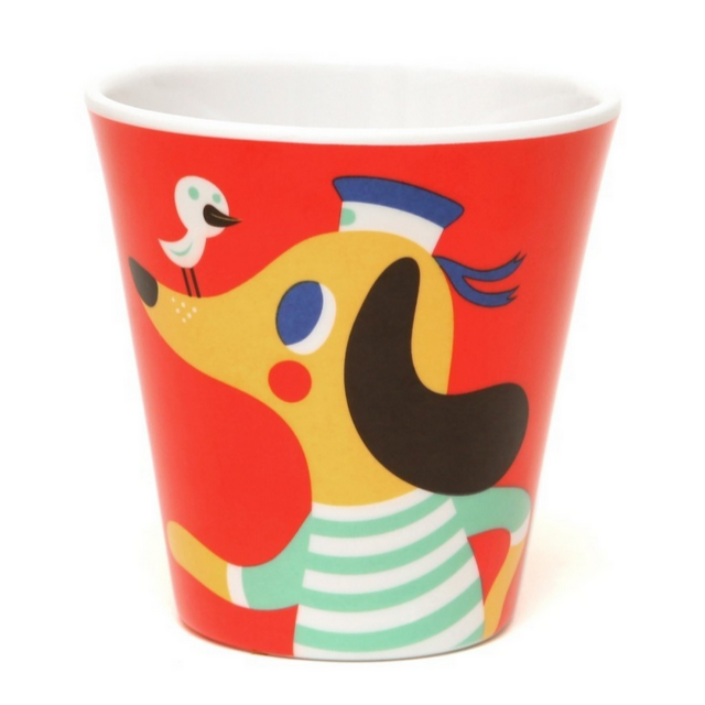 Red Wolf & Dog Melamine Cup