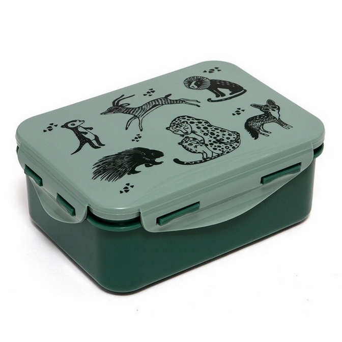 Lunchbox Black Animals Salie