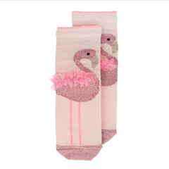 Flamingo Sparkle Socks ages 3-5yrs & 6-8yrs