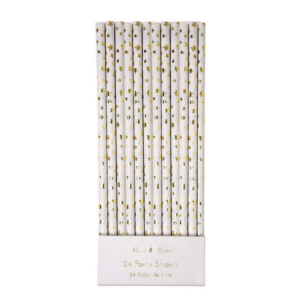 Gold Foil Star Party Straws