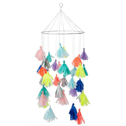 Bright Tassel Chandelier (pick-up or san francisco delivery only)