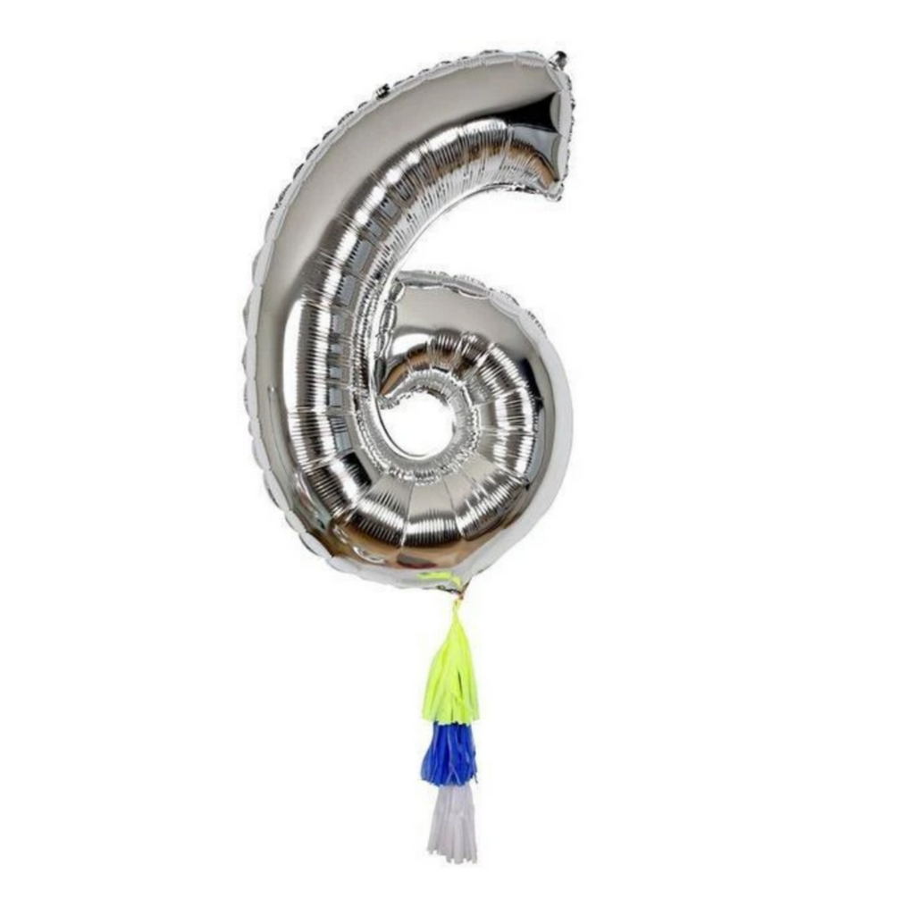Fancy Number Balloon 6