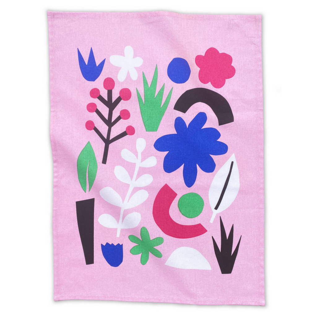 Cut Out Shapes Tea Towel