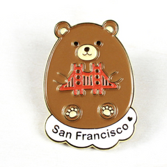 California Bear Pin