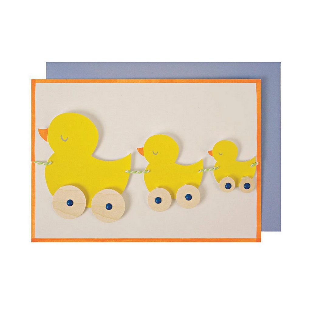 Duck Train Greeting Card -Baby