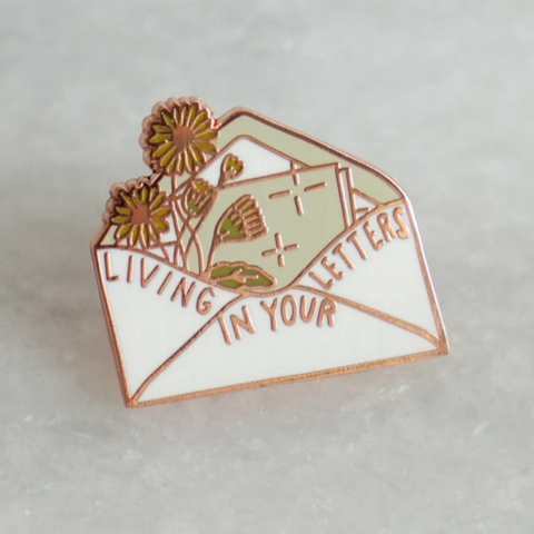 Living in Your Letters Enamel Pin