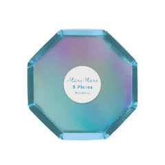Holographic Blue Cocktail Plates (pk8)