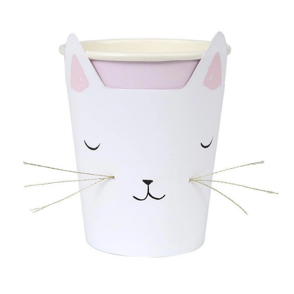 Cat with Whiskers Cups (pk8)