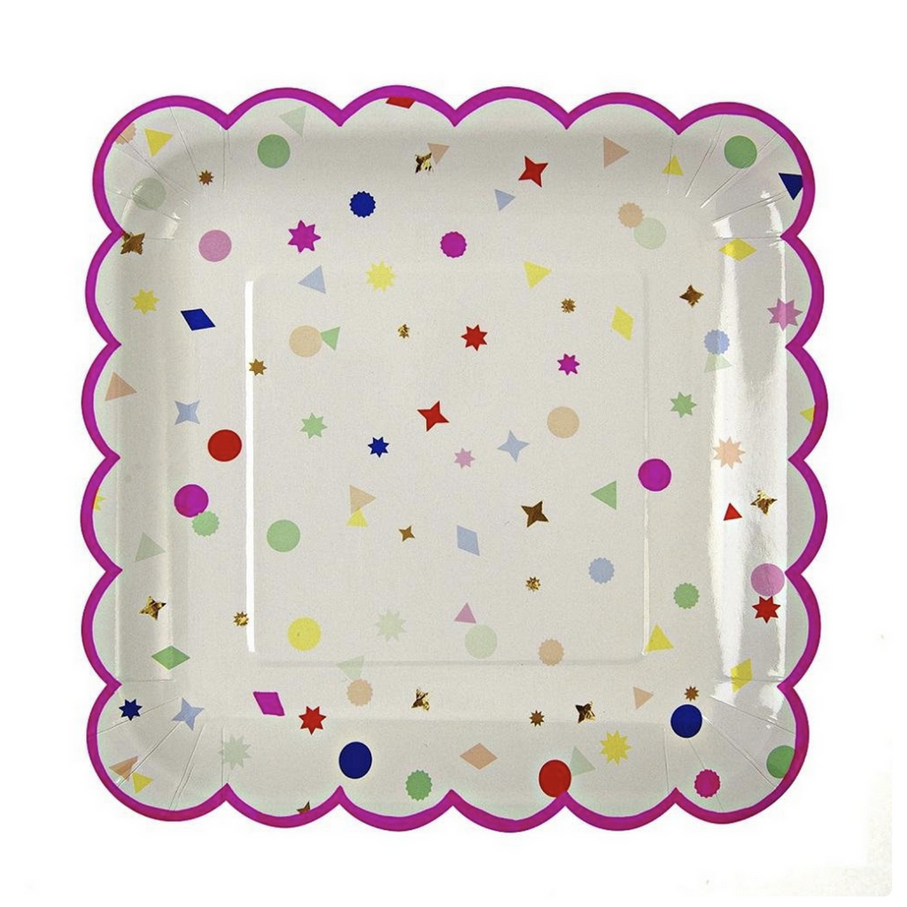 Toot Suite Large Confetti Plates