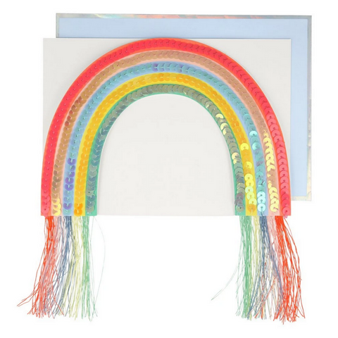 Sequin Rainbow Stand-up Card -Birthday