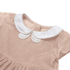 Classic Peter Pan Pink Corduroy Dress
