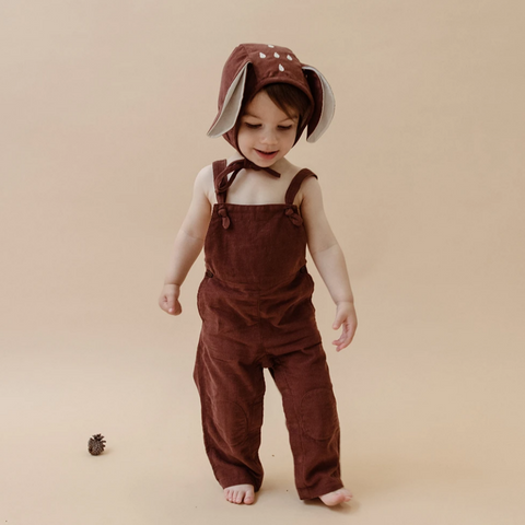 Knotted Corduroy Overalls