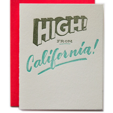 High! From California Card -Hello