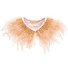 Pale Peach Feather Capelet