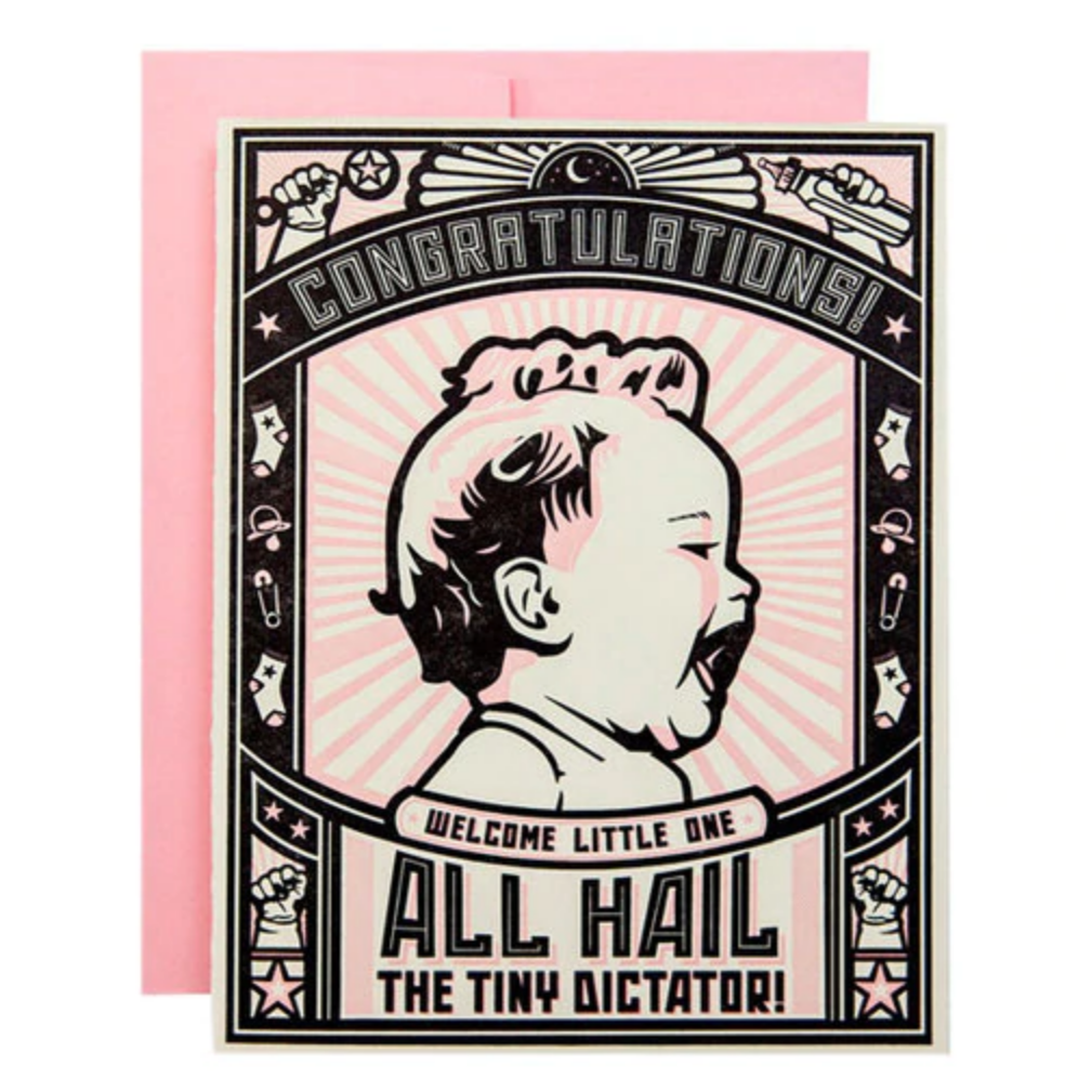 Tiny Dictator Girl Card -Baby