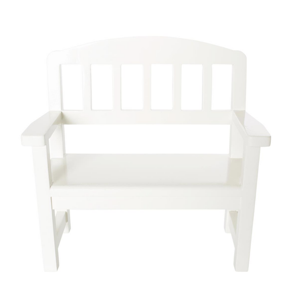 White Wooden Bench 3 yrs+