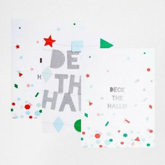 Deck The Halls Card Set -Christmas -Boxed set of 6