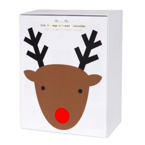 Reindeer Ink Stamp Advent Calendar