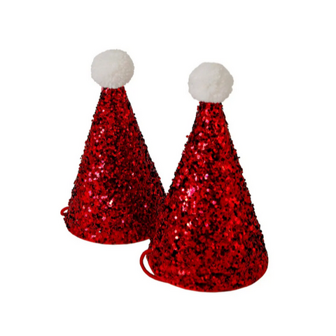 Sparkle Mini Santa Hats