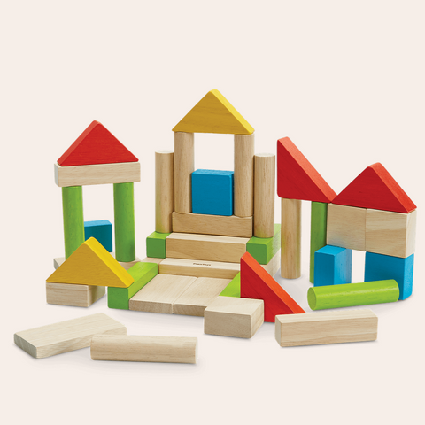 Colorful Wooden Blocks 2+yrs