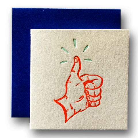 Tiny Card Thumbs Up -Congratulations