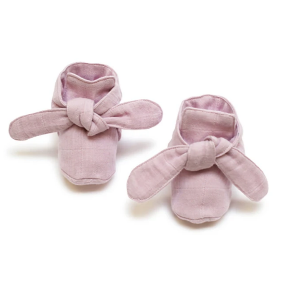 Pink Lilac Pigment Knotted Bootie
